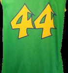 Basketball Singlet Crocodiles Bottle Green Singlet Back