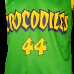 Basketball Singlet Crocodiles Bottle Green Game Singlet Front