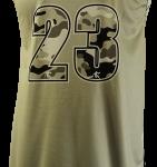Basketball Singlet Knights Grey Camouflage Game Singlet Back