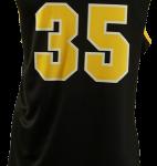 Basketball Singlet Monstars Black Game Singlet Back