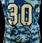 Basketball Singlet North Dark Blue Camouflage Game Singlet Back
