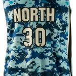 Basketball Singlet North Dark Blue Camouflage Game Singlet Front