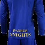 Basketball Warm Up Top Ivanhoe Royal Blue Long Sleeve Back