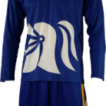 Basketball Warm Up Top Ivanhoe Royal Blue Long Sleeve Front