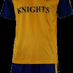 Basketball Warm Up Top Ivanhoe Gold Royal Blue Short Sleeve Front Basketball Warmup Top Ivanhoe Gold Royal Blue-Short Sleeve Back