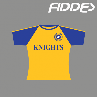 ivanhoe knights warmup top short sleeve yellow
