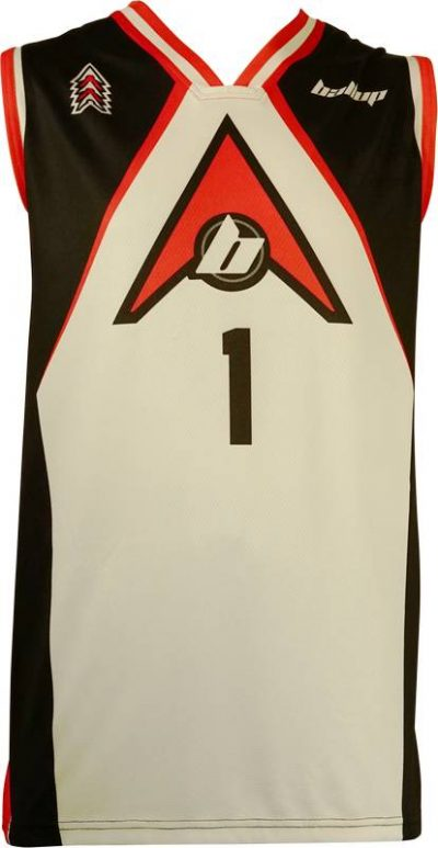 Basketball Singlet Ball-Up2 Black White Game Singlet Front