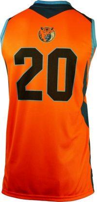 Basketball Singlet Bobcats Orange Game Singlet Back