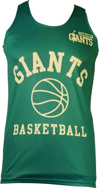 Basketball Singlet Coburg Giants Teal Game Singlet Front