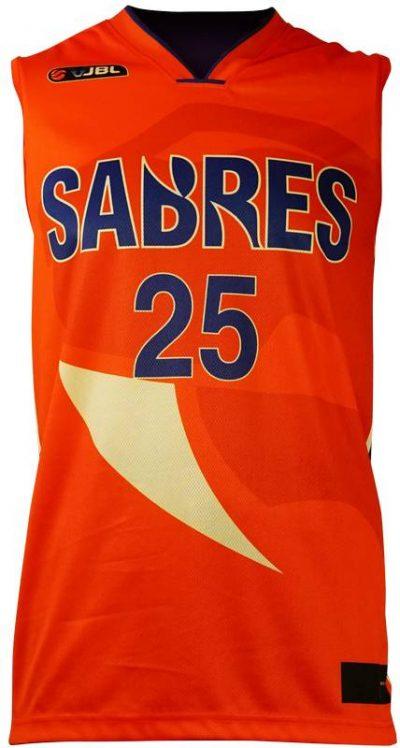 Basketball Singlet Sabres Orange Game Singlet Front