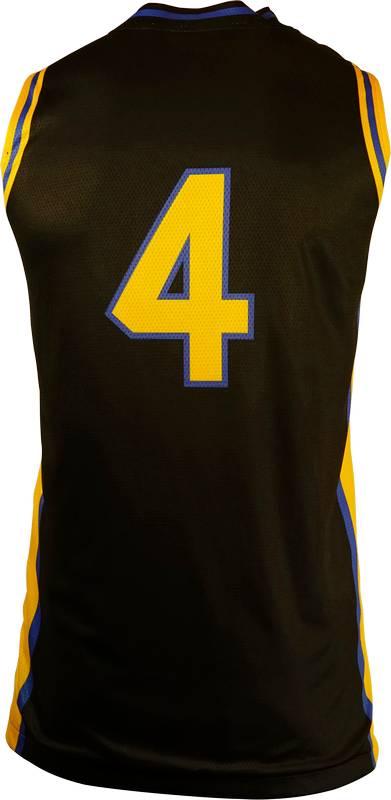 Basketball Singlet St Bernards 1 Black Yellow Game Singlet Back