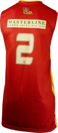 Item 8390 - Basketball Singlet Steelers Red Game Singlet Back