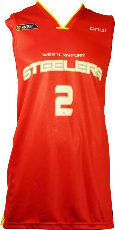 Basketball Singlet Steelers Red Game Singlet Front