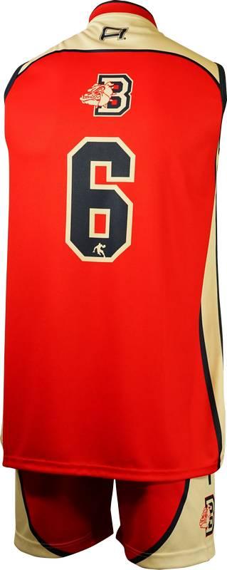 Item 8392 - Basketball Singlet Gisborne Bulldogs Red Game Singlet Back