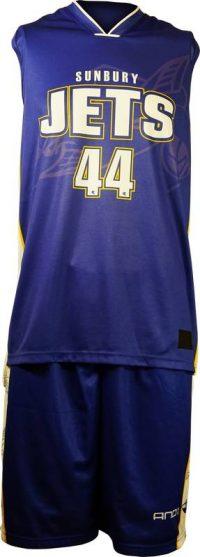 Basketball Singlet Sunbury Jets Royal Blue Game Singlet Front