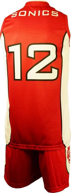 Basketball Singlet Sale Sonics Red Game Singlet Back