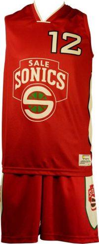Basketball Singlet Sale Sonics Red Game Singlet Front