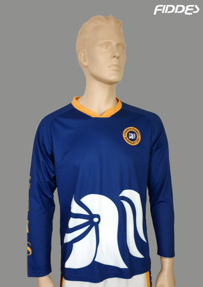 warmup top blue front