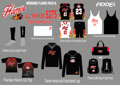 werribee flames Pack B template