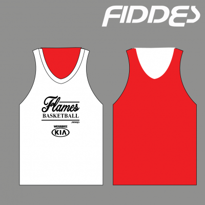 werribee flames reversible training singlet