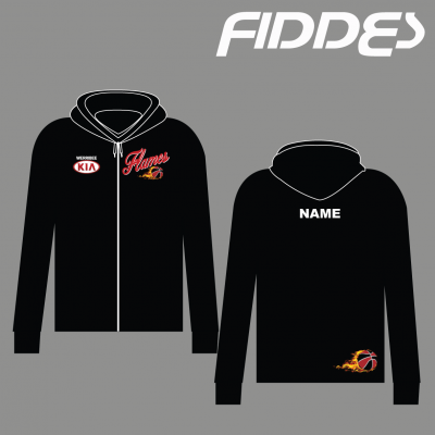 werribee flames zip up hoodie
