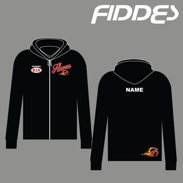 werribee flames zip up hoodie